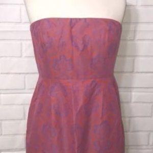 J. Crew Ella Dress Cotton/Silk Strapless Size 4